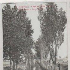 Postais: ALBACETE. CANAL DE MARÍA CRISTINA . EDITADAS POR EL BAZAR COLLADO. FOTOGRÁFICA. FABERT.. Lote 147000870