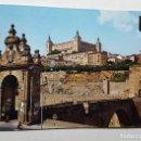 Postales: TOLEDO PUERTA DE ALCANTARA Y ALCAZAR. Lote 147738390