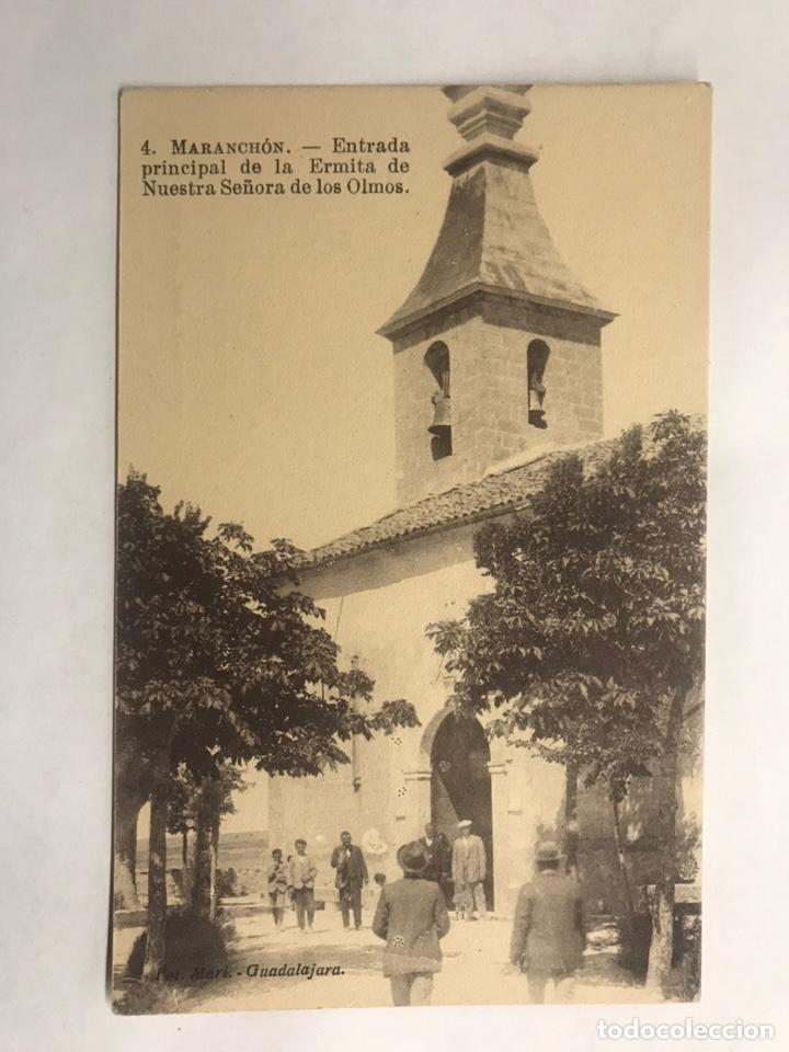 MARANCHON (GUADALAJARA) POSTAL NO.4, ENTRADA PRINCIPAL DE LA ERMITA DE NTRA. SRA. DE LOS OLMOS (Postales - España - Castilla La Mancha Antigua (hasta 1939))