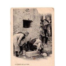 Postales: TOLEDO.- LA FUENTE DE LA TEJA. COL. G. F. A. I. 1907 - PELAEZ, TOLEDO. MIITARES. Lote 148575858
