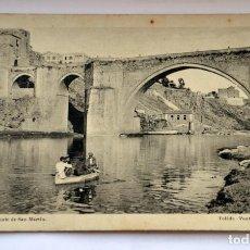 Postales: POSTAL DE TOLEDO: PUENTE SAN MARTIN. L.ROISIN.FOT.. Lote 151415290