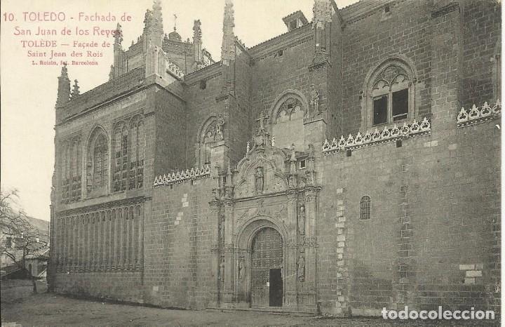TOLEDO. FACHADA DE SAN JUAN DE LOS REYES. 10. ROISIN. 9X14 CM. SIN CIRCULAR. BUEN ESTADO. (Postales - España - Castilla La Mancha Antigua (hasta 1939))