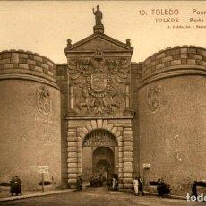 Postales: TOLEDO – 19 - PUERTA DE VISAGRA - 9 X14 CMS. Lote 151421710