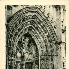 Postales: TOLEDO – CATEDRAL – EXTERIOR DE LA PUERTA DE LOS LEONES - 9 X14 CMS. Lote 151422846