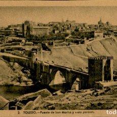 Postales: TOLEDO – PUENTE DE SAN MARTIN Y VISTA PARCIAL - 9 X14 CMS. Lote 151423230
