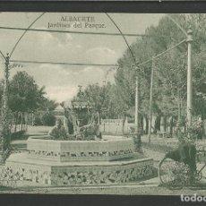 Postales: ALBACETE-JARDINES DEL PARQUE-ED·KIOSCO MIRIDIO-POSTAL ANTIGUA-(57.120). Lote 151444110