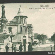 Postales: ALBACETE-PLAZA CANALEJAS-ED·KIOSCO MIRIDIO-POSTAL ANTIGUA-(57.121). Lote 151444190