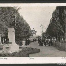 Postales: ALBACETE-PARQUE-6-FOTOGRAFICA ROISIN-POSTAL ANTIGUA-(57.123). Lote 151444442