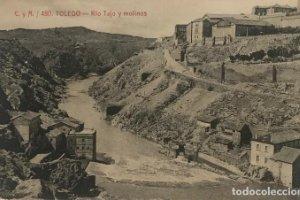 Toledo. Río Tajo y molinos