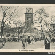 Postales: ALBACETE-MERCADO-10-ROISIN-POSTAL ANTIGUA-(57.288). Lote 152958574