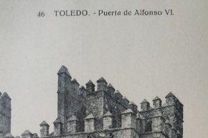Toledo. Puerta de Alfonso VI. Postal antigua