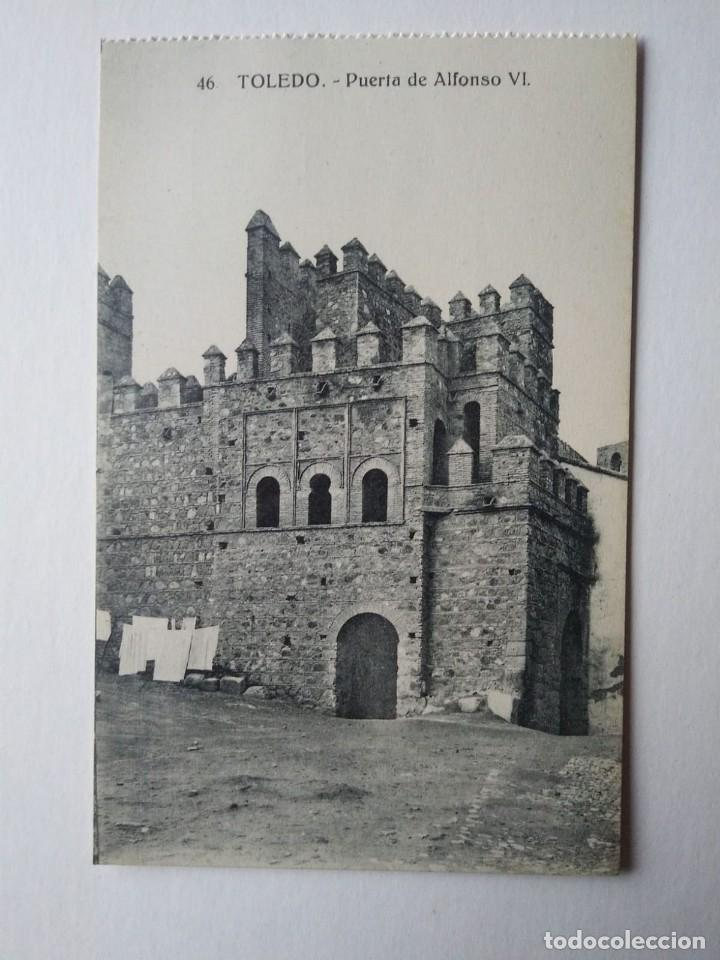 Toledo. Puerta de Alfonso VI. Postal antigua - 140877358