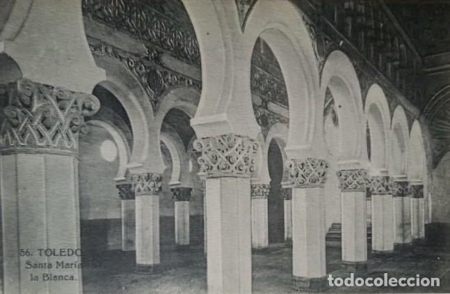 Toledo. Santa María la Blanca. Postal antigua. - 140877754