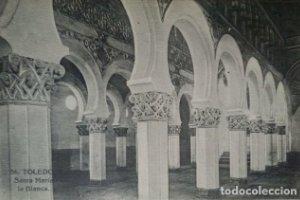 Toledo. Santa María la Blanca. Postal antigua.