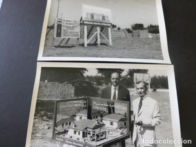 CIUDAD REAL POBLADO SANTA MARIA DE ALARCOS 11 FOTOGRAFIAS TAMAÑO POSTAL BENDICION OBRAS INAUGURACIÓN (Postales - España - Castilla La Mancha Antigua (hasta 1939))
