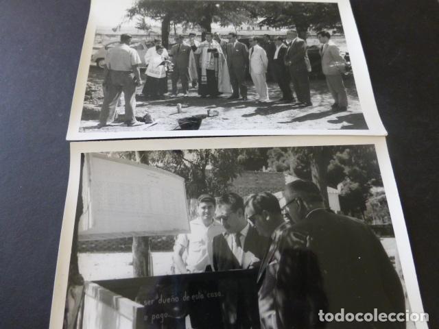 Postales: CIUDAD REAL POBLADO SANTA MARIA DE ALARCOS 11 FOTOGRAFIAS TAMAÑO POSTAL BENDICION OBRAS INAUGURACIÓN - Foto 2 - 154416550