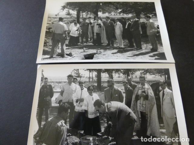 Postales: CIUDAD REAL POBLADO SANTA MARIA DE ALARCOS 11 FOTOGRAFIAS TAMAÑO POSTAL BENDICION OBRAS INAUGURACIÓN - Foto 3 - 154416550