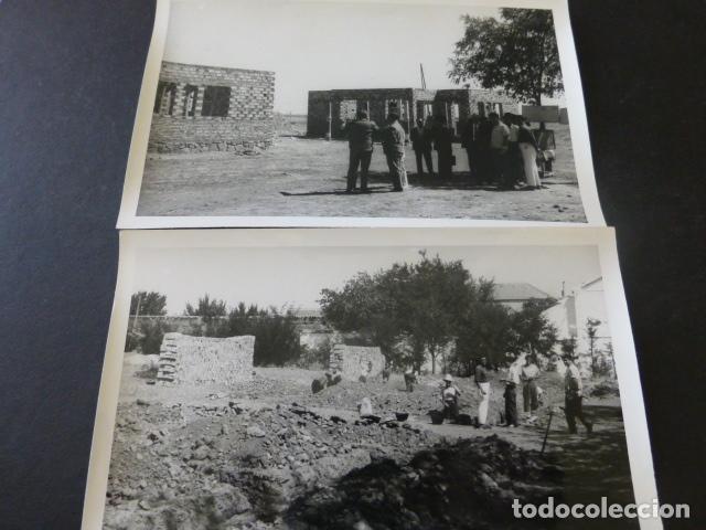 Postales: CIUDAD REAL POBLADO SANTA MARIA DE ALARCOS 11 FOTOGRAFIAS TAMAÑO POSTAL BENDICION OBRAS INAUGURACIÓN - Foto 4 - 154416550