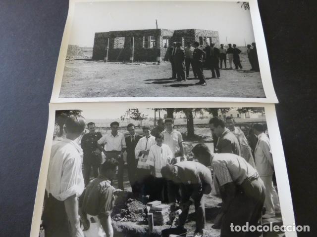Postales: CIUDAD REAL POBLADO SANTA MARIA DE ALARCOS 11 FOTOGRAFIAS TAMAÑO POSTAL BENDICION OBRAS INAUGURACIÓN - Foto 5 - 154416550