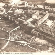 Postales: GUADALAJARA LA ACADEMIA DE INGENIEROS DESDE EL GLOBO 1912. POSTAL FOTOGRÁFICA. Lote 154997074