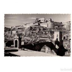 Postales: TOLEDO.- PUENTE DE ALCANTARA Y ALCAZAR DESPUES DEL ASEDIO. Lote 155996490