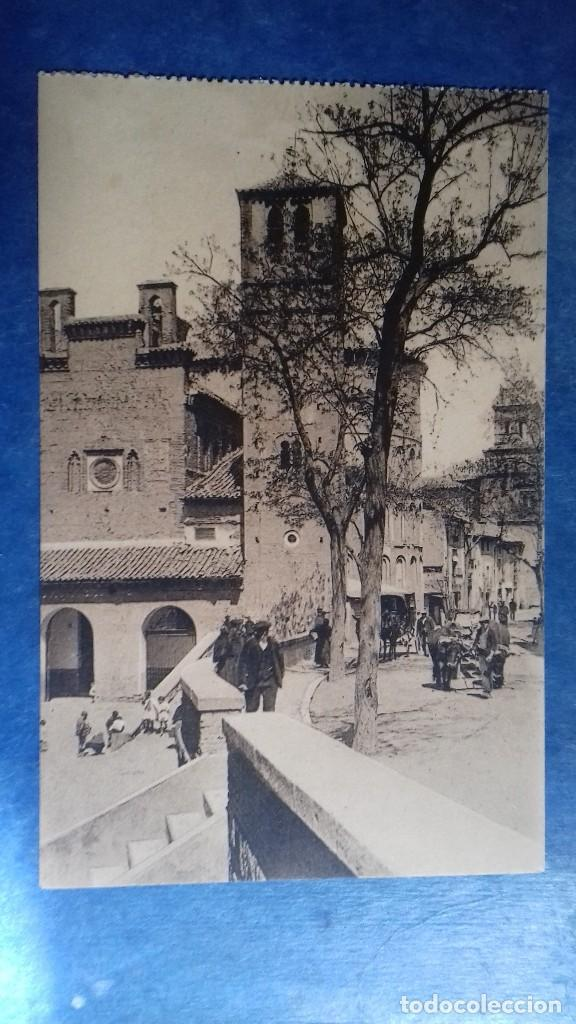 TOLEDO.CALLE TÍPICA CON LA IGLESIA SANTIAGO EL ARRABAL..WUNDERLICH 3909. SIN CIRCULAR (Postales - España - Castilla La Mancha Antigua (hasta 1939))