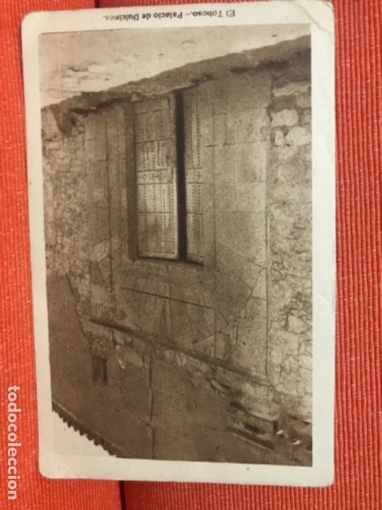 EL TOBOSO PALACIO DE DULCINEA TOLEDO TARJETA POSTAL SIN CIRCULAR GRAFICAS VILLAROCA FOTO BLEDA (Postales - España - Castilla La Mancha Antigua (hasta 1939))