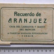 Postales: BLOC POSTAL. RECUERDO DE ARANJUEZ. CASA LABRADOR Y JARDÍN. I SERIE.. Lote 159254546