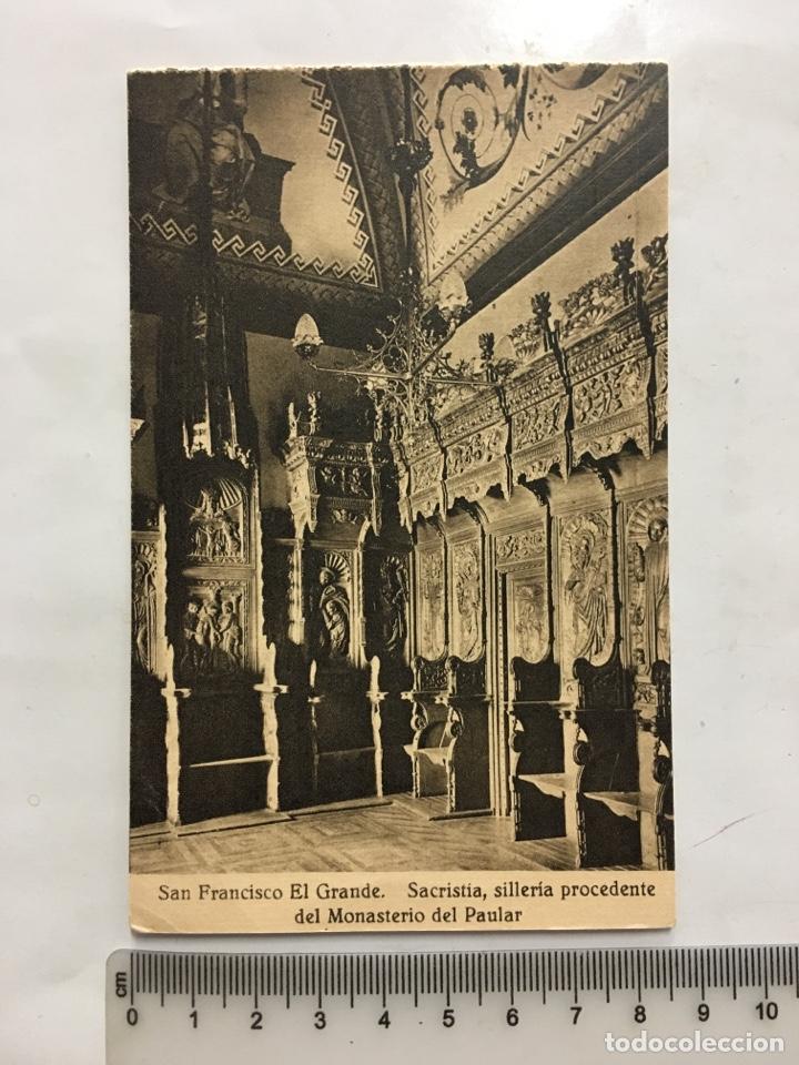 POSTAL. S. FRCO. EL GRANDE. SACRISTÍA. SILLERÍA. HAUSER Y MENET. MADRID. H. 1920?. (Postales - España - Castilla La Mancha Antigua (hasta 1939))