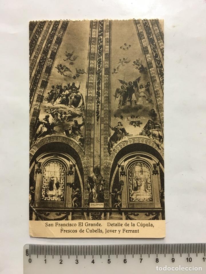 POSTAL. S. FRCO. EL GRANDE. DETALLE CÚPULA. HAUSER Y MENET. MADRID. H. 1920?. (Postales - España - Castilla La Mancha Antigua (hasta 1939))