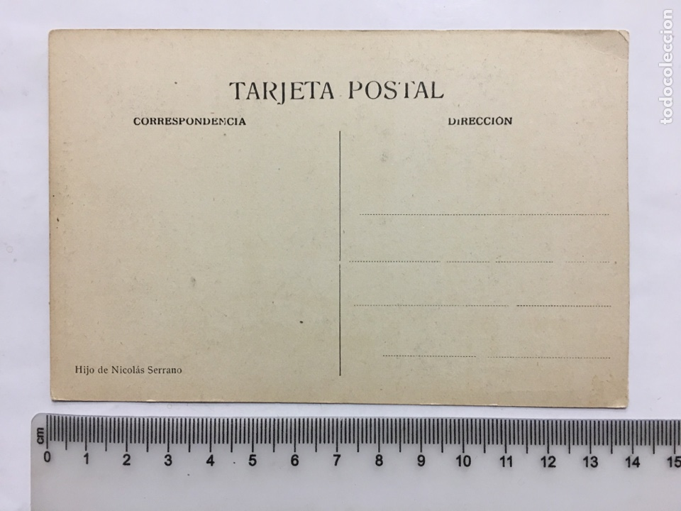 Postales: POSTAL. EL ESCORIAL. PALACIO. SALÓN POMPEYANO. HIJO DE NICOLÁS SERRANO. H. 1920?. - Foto 2 - 160574778