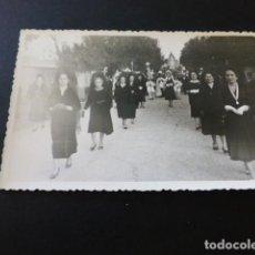 Postales: MOTILLA DEL PALANCAR CUENCA PROCESION VIRGEN FOTOGRAFIA TAMAÑO POSTAL. Lote 164625822