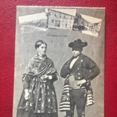 Postales: GUADALAJARA FOLKLORE ANTIGUA POSTAL PAREJA TRAJES TIPICOS REGIONALES J ROIG. Lote 178574092