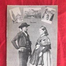 Postales: TOLEDO TRAJE REGIONAL TRAJE TIPICO FOLKLORE ANTIGUA POSTAL TOLEDANA Y 3 VISTAS ROIG. Lote 178574186