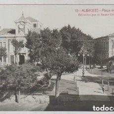 Postais: 12 ALBACETE. PLAZA DE ALTOZANO EDITADAS POR EL BAZAR COLLADO. FOTOGRÁFICA. ANDRES FABERT EDITOR.. Lote 165767522