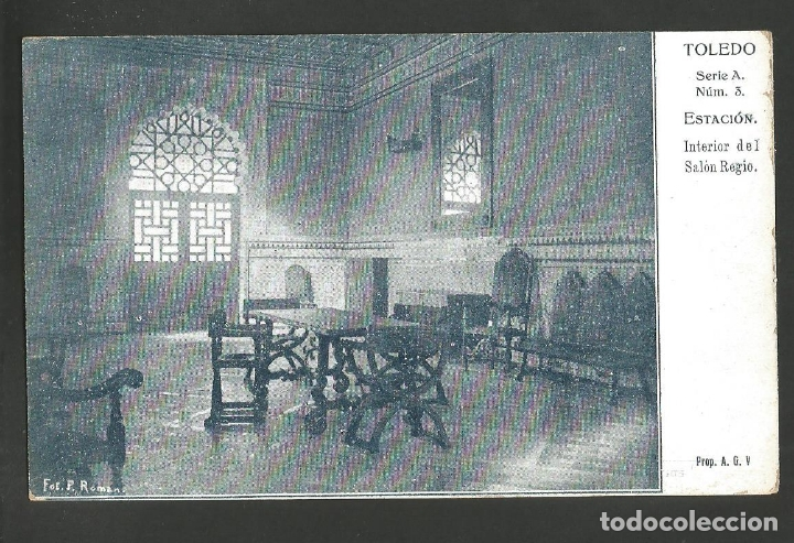 TOLEDO-ESTACION-SALON REGIO-EDITORIAL CATOLICA-VER REVERSO-(60.242) (Postales - España - Castilla La Mancha Antigua (hasta 1939))