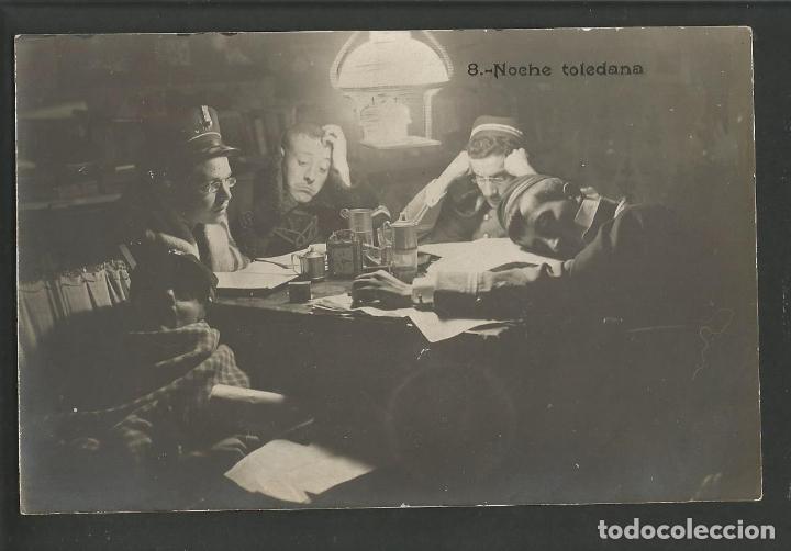 TOLEDO-NOCHE TOLEDANA-POSTAL FOTOGRAFICA-VER REVERSO-(60.247) (Postales - España - Castilla La Mancha Antigua (hasta 1939))