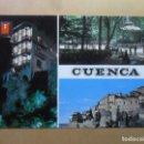 Postales: POSTAL - 25 - CUENCA - CASAS COLGADAS/PARQUE DE SAN JULIAN/HOZ DEL HUECAR - ED. FISA. Lote 168670360