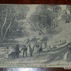 Postales: POSTAL DE PUERTO REAL (CADIZ), LAS CANTERAS, N. 10, PROPIEDAD DE G. Y T. CADIZ. FOT. CEMBRANO, CIRCU. Lote 169233736