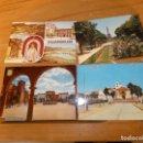 Postales: ALBACETE. VILLAROBLEDO.4 POSTALES.PASEO Y ERMITA , VISTAS PANORÁMICAS,PARQUE. Lote 169342644