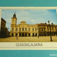 Postales: POSTAL PLAZA MAYOR Y AYUNTAMIENTO. GUADALAJARA. Lote 170015496