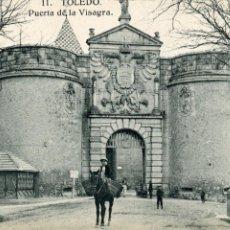Postales: TOLEDO. PUERTA DE LA VISAGRA. (BISAGRA) HELIOTIPIA ARTISTICA ESPAÑOLA. Lote 170362380