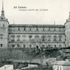 Postales: TOLEDO. EL ALCAZAR. FACHADA NORTE. SIN ESCRIBIR. LACOSTE. Lote 170443416