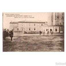 Postales: TOLEDO.- ACADEMIA DE INFANTERÍA. CURSO 1913-14, DESFILE DE S.M. ANTE M. POINCARE.. Lote 171138552