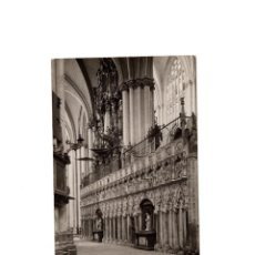 Postales: TOLEDO.- INTERIOR DE LA CATEDRAL. POSTAL FOTOGRÁFICA. FOTO RODRIGUEZ.. Lote 171327519