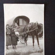 Postales: PEDRO MUÑOZ CIUDAD REAL 31 MAYO 1923 FAMILIA EN CARRO POSTAL FOTOGRAFICA. Lote 171640175