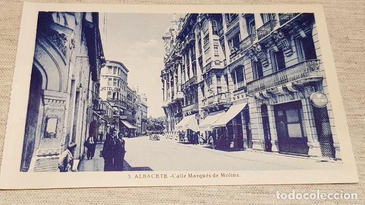 ALBACETE / 3 / CALLE MARQUÉS DE MOLINS / L. ROISÍN / SIN CIRCULAR. (Postales - España - Castilla La Mancha Antigua (hasta 1939))