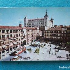 Postales: TOLEDO. PLAZA DE ZOCODOVER Y ALCAZAR. ANIMADA. AÑO 1963.. Lote 172835918