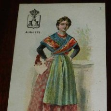 Postales: CROMO DE CHOCOLATE BOIX, TRAJE REGIONAL DE ALBACETE, MIDE 12,2 X 7 CMS.. Lote 173049052