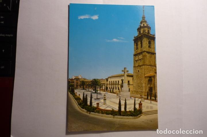 POSTAL TALAVERA DE LA REINA.PL.PAN Y COLEGIATA.-CIRCULADA (Postales - España - Castilla la Mancha Moderna (desde 1940))